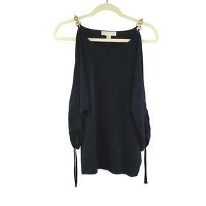 Michael Kors NWT Peek Sleeve Dress Shirt Medium